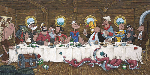 La Ultima cena de Popeye el marino