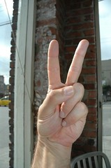 Peace, Victory, Two Fingers - from the origina...