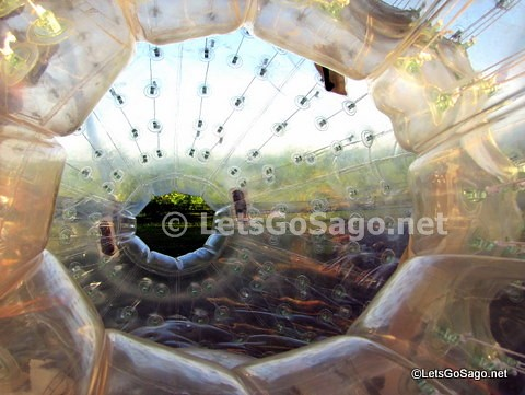 The side hole entrance into the Zorb Ball