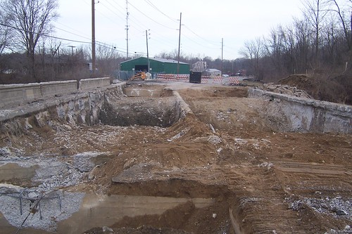Old US 52 bridge demolition, week 2