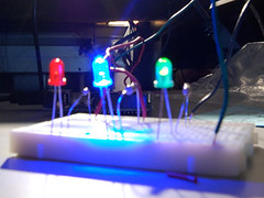 LEDs and breadboard