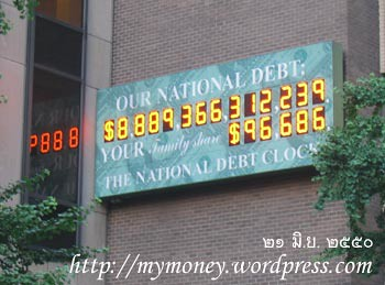 The US Naional Debt Clock