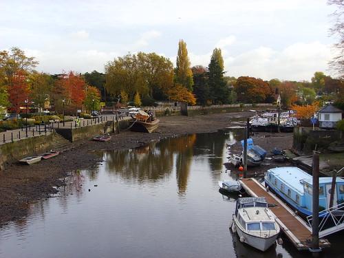 Thames at low tide from Eel Pie bridge