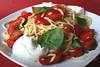 Fresh Pasta with Basil, Tomato and Burrata