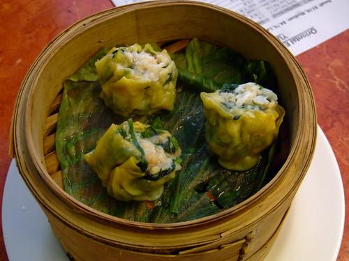 Oriental Expression - yum cha - crab and spinach dim sim