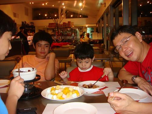 Saturday (PM) - choco fondue dessert at Tinderbox