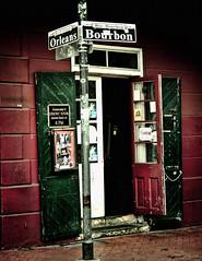 Burbon and Orleans Street Corner