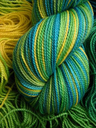 Peacock - Tiger Twist Hand Dyed Sock Yarn
