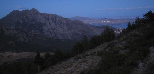 Vistas de noche desde la Pedriza