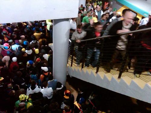 90,000 people on a train to Ghana v Germany