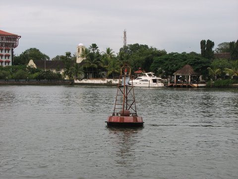 taj malabar, with yacht and landing jetty kochi kerala
