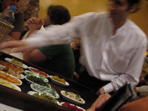 Mezes at dinner in Istanbul