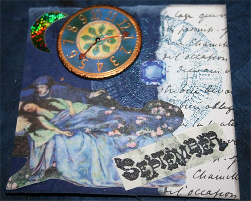 "September 4""x4"" Collage card"