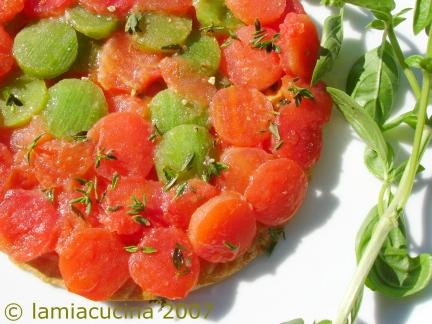 Tomaten-Peperoni-Tarte