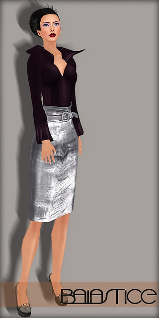 Baiastice Allydora Shirt & Leather Print Skirt