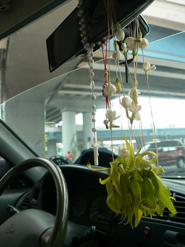 Sampaguita Garland inside my Car