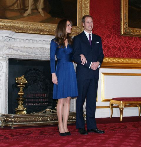 Prince William and Miss Catherine Middleton appear at a photocall on the day of their engagement at St. James's Palace