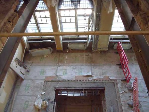 Building Progress: A View into the Lift Shaft