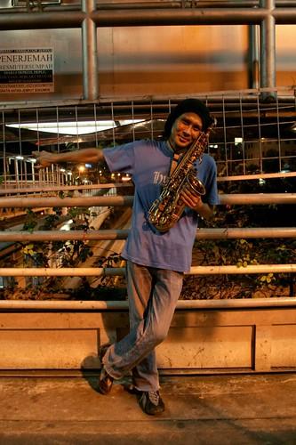 lucky, the sax