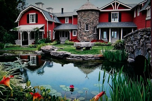 Gorgeous home and pond in foreground