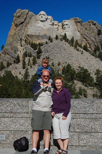 The whole family at the monument