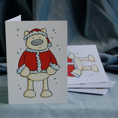 polar santa christmas card pack