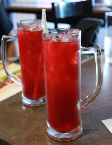 Raspberry Iced Tea at Goodfellas Steaks and Burgers