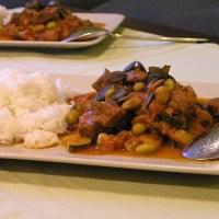 Kürbiskerncurry mit Rindfleisch