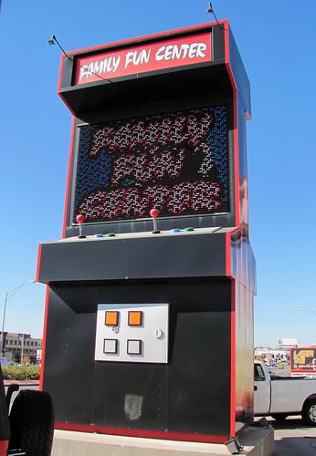 Arcade Coin Yarnbomb