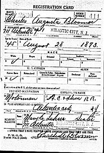 Uncle Charles Draft Regist