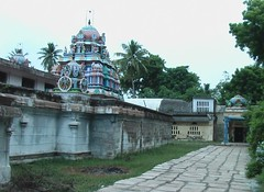 View of the main vimanam from right side outer praharam