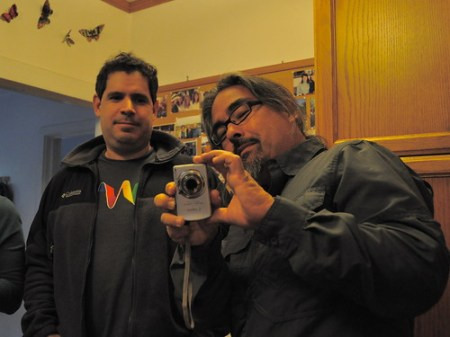 My brother in law and me-- photo by my son