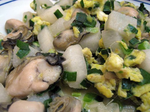 oyster egg yam / 蛋炒蚵 山藥