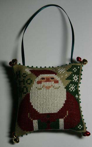 Prairie Schooler Santa ornament