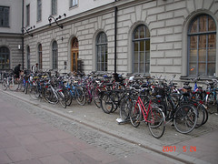 A lot of Swedish people have bycicles