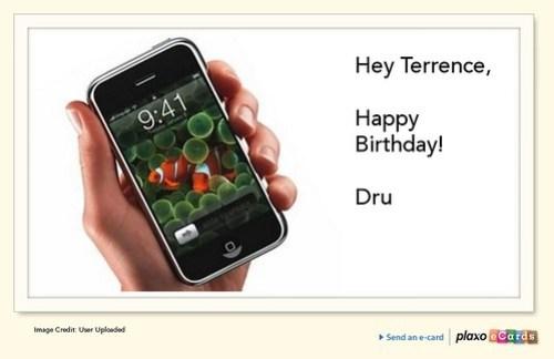 Plaxo Birthday eCard from Dru