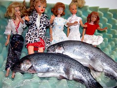 fish on the old Barbies