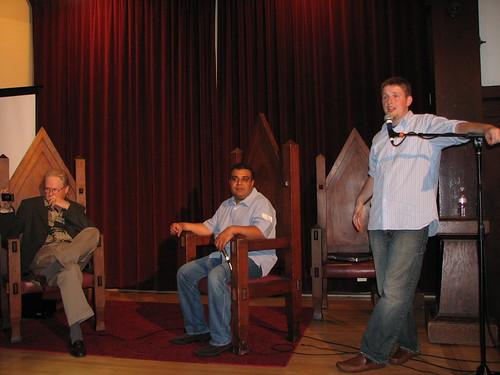 WordCamp 2007 John C. Dvorak, Om Malik, Mullenweg opaco