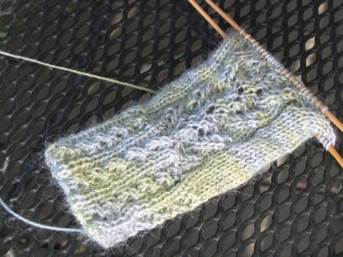 Delicato Mitt lace detail