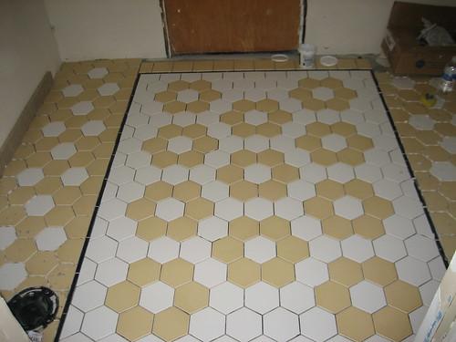 California Bungalow Bathroom Floor