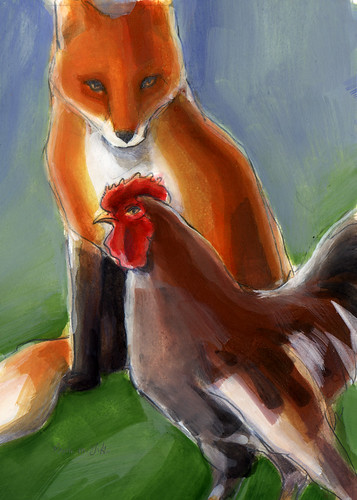 Fox and Chicken.