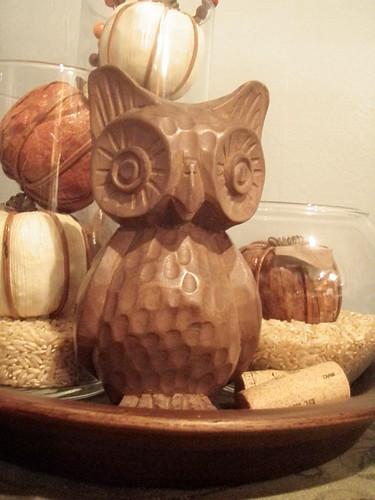 Antiqueing Find: Carved Owl