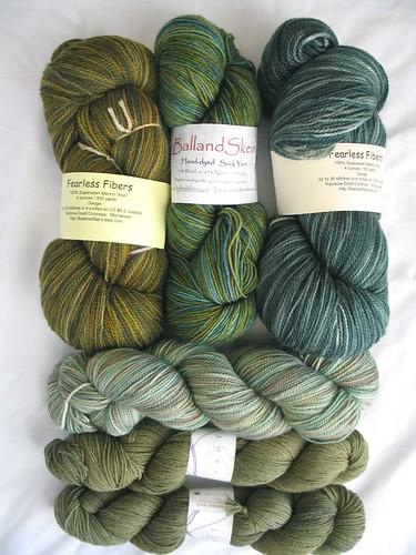 green sock yarns