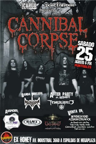 Cannibal Corpse Poster