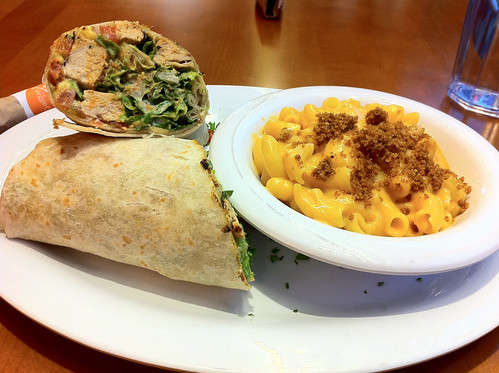Blackened Chicken Caeser Wrap w/ Mac & Cheese