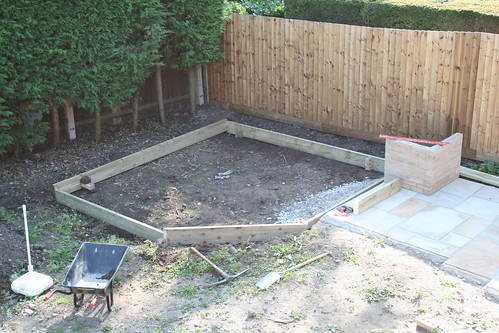 Laying out the deck