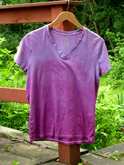 Finished purple v-neck