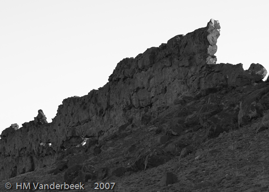 Rock Wall in Shiprock