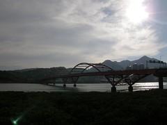 32.關渡大橋與夕陽 (1)