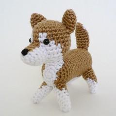 AmiDogs Shiba Inu crochet amigurumi by planetjune